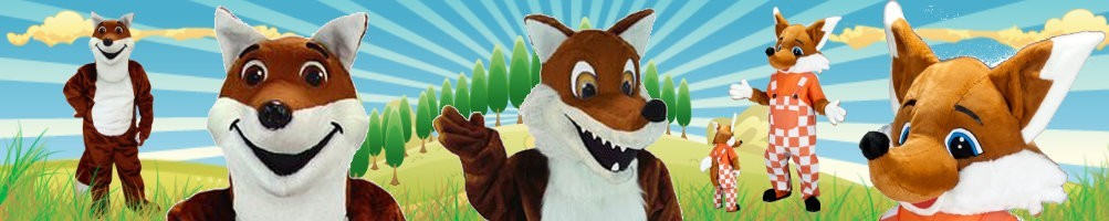 Fox costumes mascot ✅ Running figures advertising figures ✅ Promotion costume shop ✅