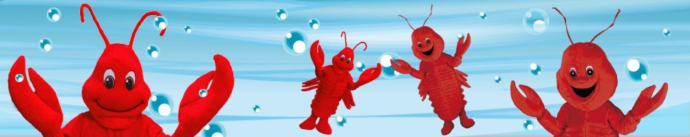 Lobster Costumes Mascot ✅ Running figures advertising figures ✅ Promotion costume shop ✅