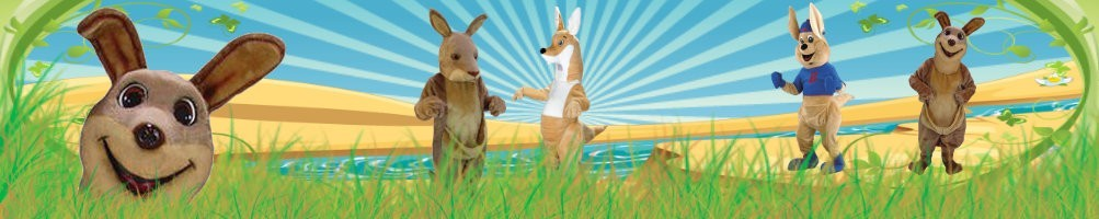 Kangaroo costumes mascot ✅ Running figures advertising figures ✅ Promotion costume shop ✅