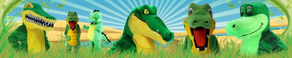 Crocodile Costumes Mascot ✅ Running figures advertising figures ✅ Promotion costume shop ✅