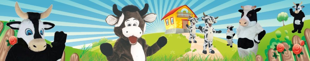 Cow costumes mascots ✅ running figures advertising figures ✅ promotion costume shop ✅