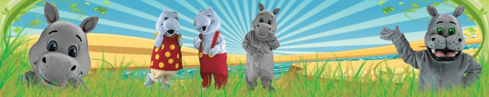 Hippo costumes mascots ✅ running figures advertising figures ✅ promotion costume shop ✅