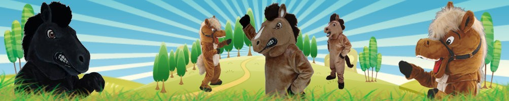 Horse Costumes mascots ✅ running figures advertising figures ✅ promotion costume shop ✅