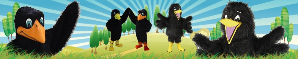 Crow costumes mascots ✅ running figures advertising figures ✅ promotion costume shop ✅