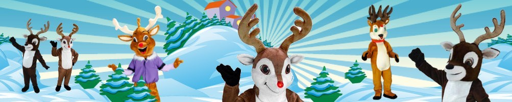 Reindeer costumes mascots ✅ running figures advertising figures ✅ promotion costume shop ✅