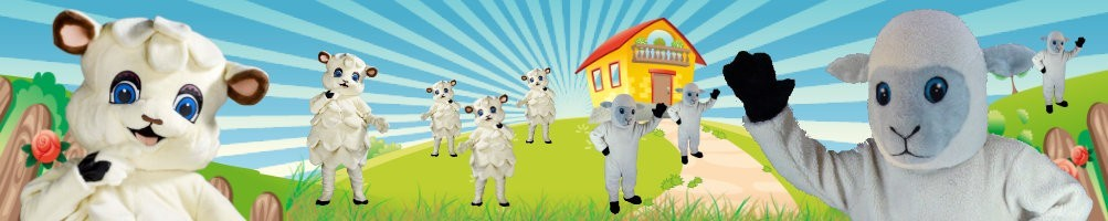 Sheep costumes mascots ✅ running figures advertising figures ✅ promotion costume shop ✅