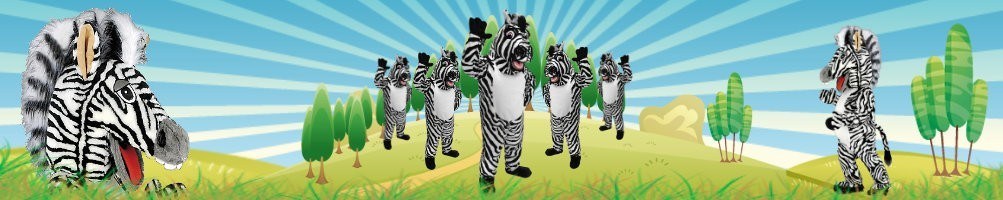 Zebra costumes mascots ✅ running figures advertising figures ✅ promotion costume shop ✅
