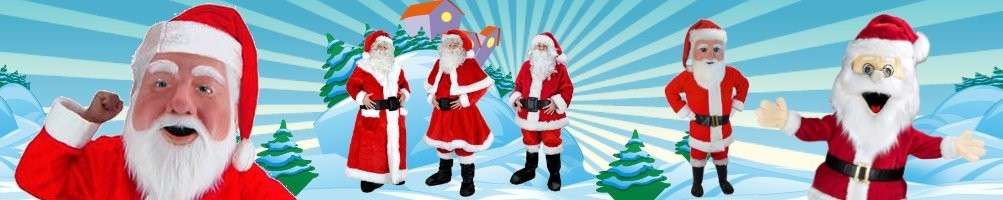 Santa Claus costumes mascots ✅ running figures advertising figures ✅ promotion costume shop ✅