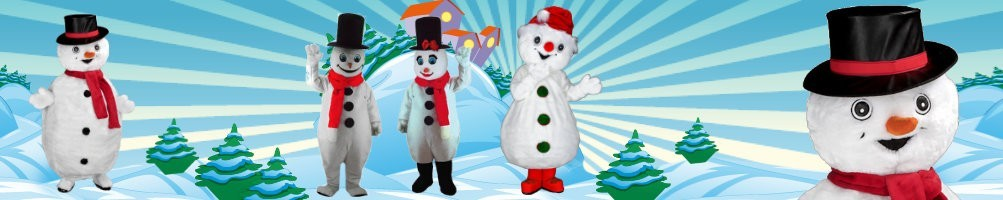 Snowman costumes mascots ✅ running figures advertising figures ✅ promotion costume shop ✅