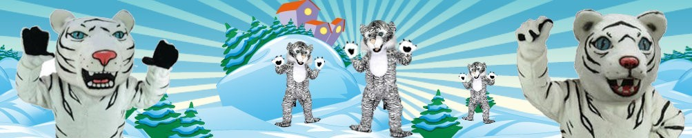 Snow tiger costumes mascots ✅ running figures advertising figures ✅ promotion costume shop ✅