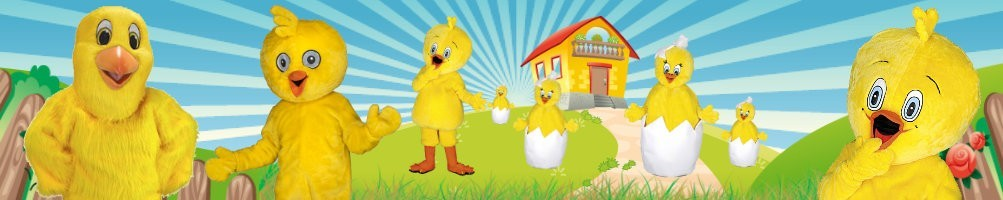 Chick Costumes Mascot ✅ Running figures advertising figures ✅ Promotion costume shop ✅