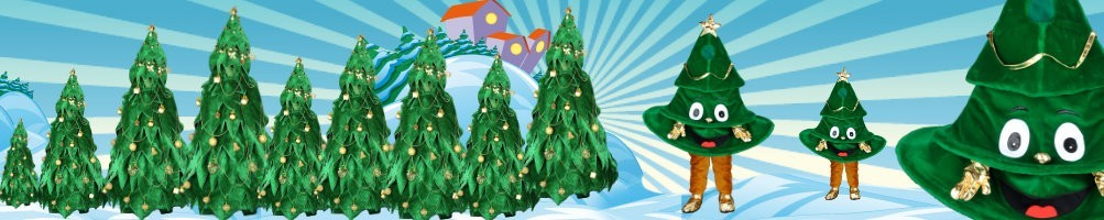 Christmas tree costumes mascots ✅ running figures advertising figures ✅ promotion costume shop ✅