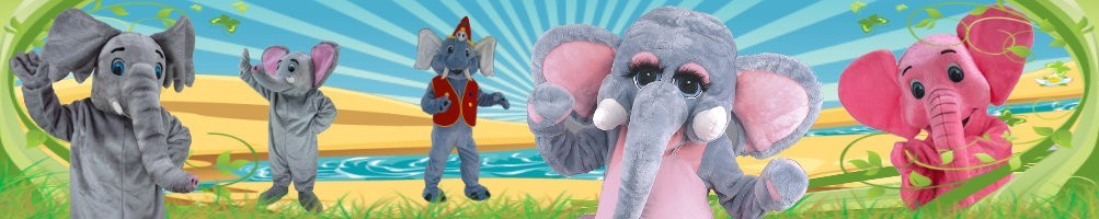 Elephant costumes mascots ✅ running figures advertising figures ✅ promotion costume shop ✅
