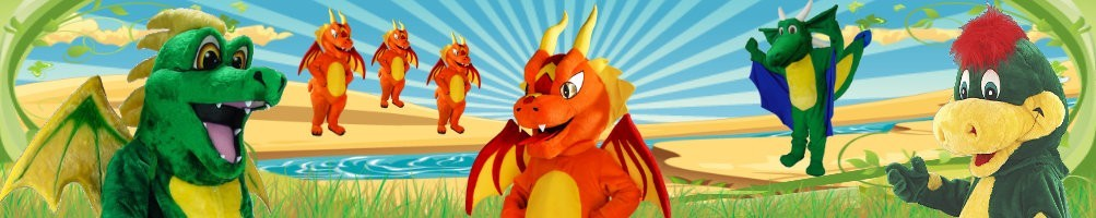 Dragon costumes mascot ✅ Running figures advertising figures ✅ Promotion costume shop ✅