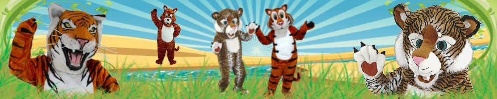 Tiger Costumes Mascot ✅ Running figures advertising figures ✅ Promotion costume shop ✅