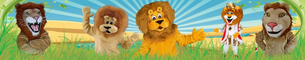 Lion costumes mascots ✅ running figures advertising figures ✅ promotion costume shop ✅
