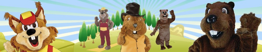 Beaver Costumes Mascot ✅ Running figures advertising figures ✅ Promotion costume shop ✅