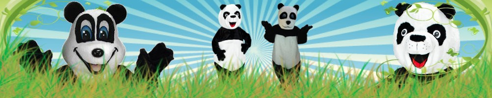 Panda costumes mascots ✅ running figures advertising figures ✅ promotion costume shop ✅