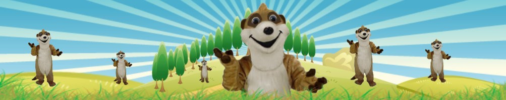Meerkat Costumes Mascot ✅ Running figures advertising figures ✅ Promotion costume shop ✅