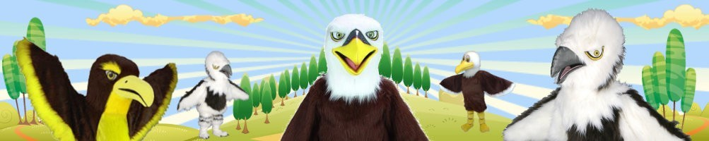 Eagle costumes mascot ✅ running characters walking act ✅ promotion costume shop ✅
