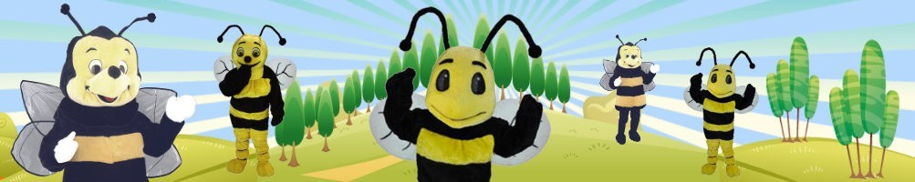 Bee costumes mascot ✅ Running figures advertising figures ✅ Promotion costume shop ✅
