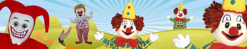Clown costumes mascot ✅ Running figures advertising figures ✅ Promotion costume shop ✅