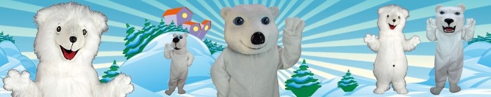 Polar bear costumes mascots ✅ running figures advertising figures ✅ promotion costume shop ✅