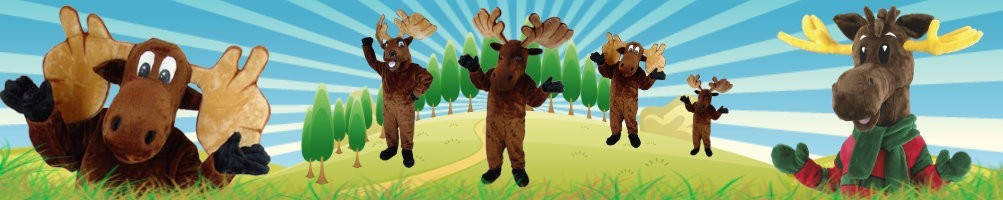 Moose costumes mascots ✅ running figures advertising figures ✅ promotion costume shop ✅